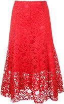 CITYSHOP floral lace midi skirt - women - Cotton/Nylon/Polyurethane - One Size