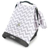 Itzy RitzyTM Cozy HappensTM Infant Car Seat Canopy in Grey Chevron