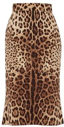 Dolce & Gabbana Leopard-print Charmeuse Pencil Skirt - Leopard