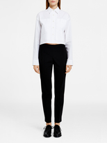 DKNY Pure Cropped Collared Shirt