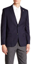 Ben Sherman Hanwell Plaid Two Button Blazer