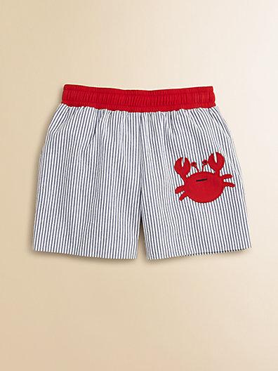 Florence Eiseman Infant's Seersucker Crab Swim Trunks