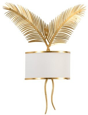 Chelsea House Double Palm 2-Light Flush Mount Finish: Gold