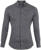 Giorgio Armani Point-collar speckle-print cotton shirt