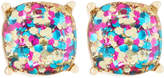Lydell NYC Rainbow Glitter Stud Earrings