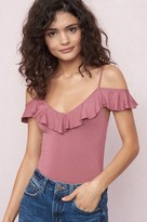 Garage Off-Shoulder Ruffle Tank