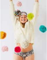 aerie Boucle Pom Pom Pullover