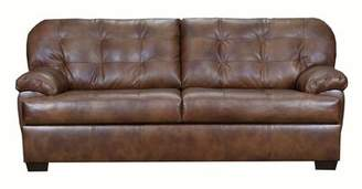 Askerby Leather Sofa Red Barrel Studio Upholstery Color: Gray
