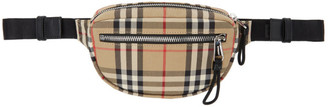 Burberry Beige Small Vintage Check Cannon Bum Bag
