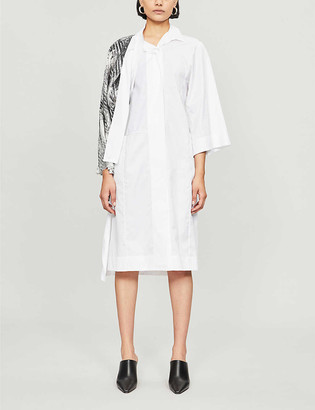 Omer Asim Half Mast contrast-panel cotton and silk shirt dress