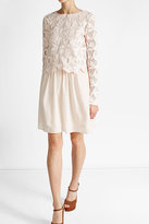 See by Chloe Lace and Cotton Mini Dress