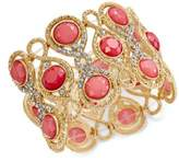 INC International Concepts Gold-Tone Stone and Crystal Filigree Stretch Bracelet, Created for Macy's