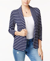 Maison Jules Striped Knit Blazer, Created for Macy's