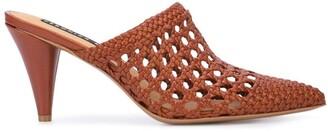 Veronica Beard Jaqlyn crochet design mules