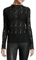 Helmut Lang High Neck Lace Top