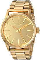 Nixon Men's 'Sentry 38 SS, All' Quartz Stainless Steel Watch, Color:Gold-Toned (Model: A450-502-00)