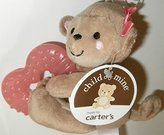 Child of Mine Soft Girl Monkey Plush with Teething Ring and Rattle by Child of Mine