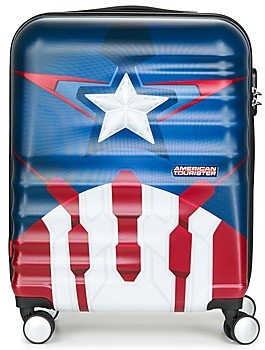 American Tourister CAPTAIN AMERICA 55CM 4R women's Hard Suitcase in Blue