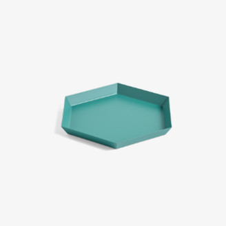 Hay Small Kaleido Tray - small | peach - Peach/Emerald green
