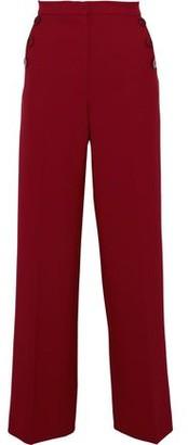 Baum und Pferdgarten Jensen Button-embellished Crepe Wide-leg Pants