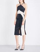 Roland Mouret Bartlow two-tone satin dress