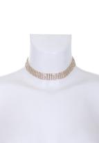 AX Paris Gold Diamante Choker