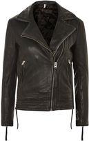 Topshop TALL Leather Biker Jacket