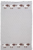 Elegant Baby Blanket. Lattice Lambie. Grey. 30x40. by