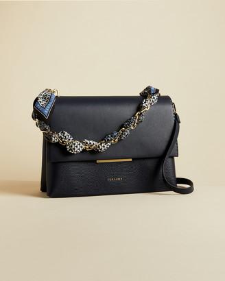 Ted Baker EVANGLI Leather chain bar detail shoulder bag