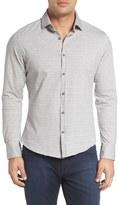 Stone Rose Geometric Jersey Knit Sport Shirt