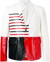 Thom Browne colour block blazer - men - Cotton/palm glycerine - 1