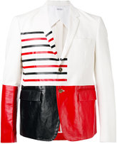 Thom Browne colour block blazer - men - Cotton/palm glycerine - 3