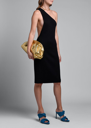 Bottega Veneta One-Shoulder Compact Frise Dress