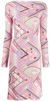 Emilio Pucci abstract print belted dress