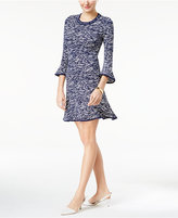 MICHAEL Michael Kors Printed Flounce Sheath Dress