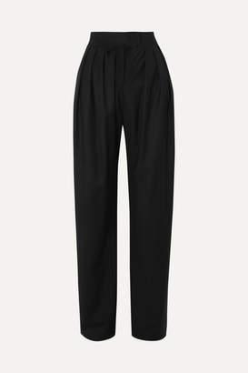MATÉRIEL Pleated Wool Pants - Black