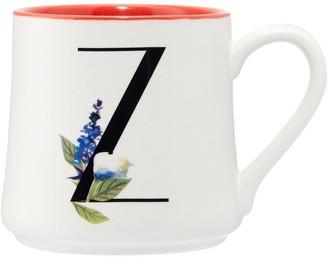 Indigo Floral Monogram Mug Z