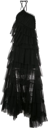 Alexis Justina ruffled-tulle maxi dress