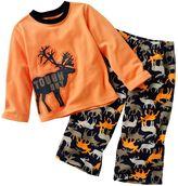 """Carter's tough guy"""" moose fleece pajamas - baby"""