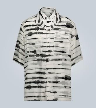 Burberry Short-sleeved tie-dye shirt