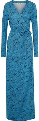 Diane von Furstenberg New Julian Floral-print Silk-jersey Maxi Wrap Dress