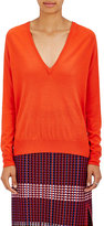 Proenza Schouler Women's Wool V-Neck Sweater-ORANGE