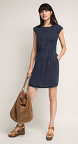 Esprit OUTLET flowing woven dress with lace
