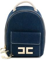 Elisabetta Franchi La Mia Bambina rope strap denim backpack