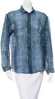 Barbara Bui Printed Wool Button-Up Top