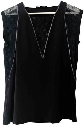 Maje Blue Silk Top for Women