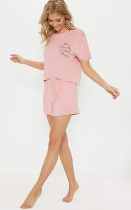 PrettyLittleThing Rose Short Pj Set