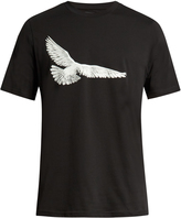 Oamc Dove-print cotton-jersey T-shirt