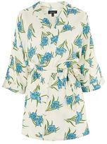 Botanical print robe