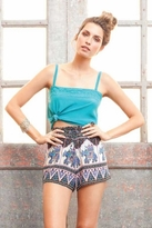 Winter Kate Printed Lila Shorts